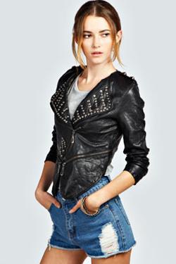 Ariah  - Studded Biker Jacket
