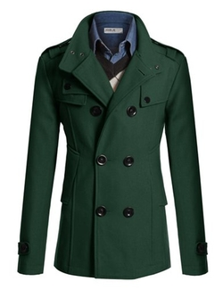 Doublju  -  Wool Double Breasted Trench Coat