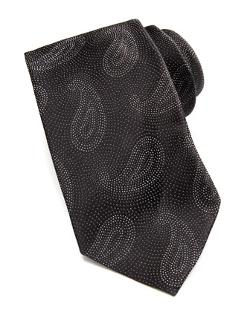 Armani Collezioni -  Paisley Pines on Dots Silk Tie