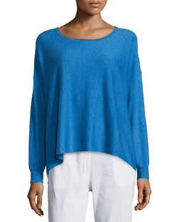 Eileen Fisher  - Featherweight Cashmere Boxy Sweater