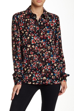 Wayf - Long Sleeve Floral Blouse