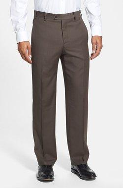 Zanella - Flat Front Wool Trousers