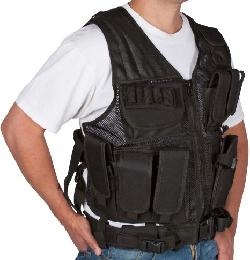 Modern Warrior - Modern Warrior Tactical Vest with Holster and Pouches