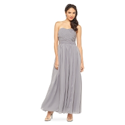 Tevolio - Chiffon Strapless Maxi Bridesmaid Dress