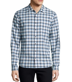 ATM Anthony Thomas Melillo - Plaid Flannel Long-Sleeve Sport Shirt