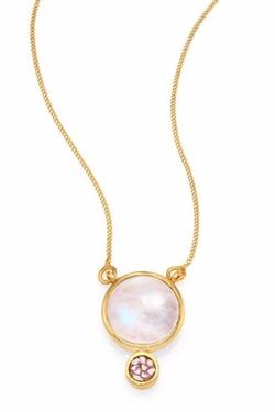 Shana Gulati  - Moonstone & Sliced Raw Diamond Necklace