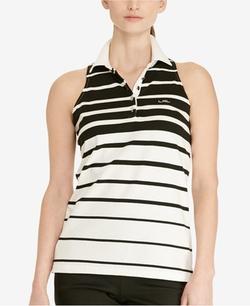 Lauren Ralph Lauren  - Striped Sleeveless Polo Shirt