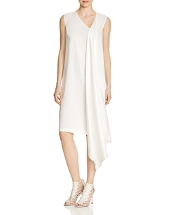 DKNY - Drape Front Silk Dress