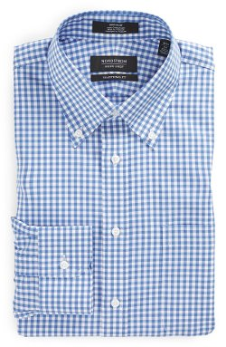 Nordstrom  - Traditional Fit Non-Iron Check Dress Shirt