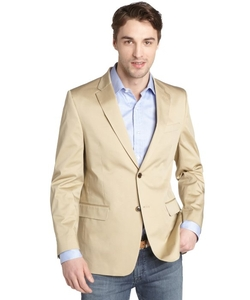 Tommy Hilfiger - Khaki Cotton Two Button Front Jacket