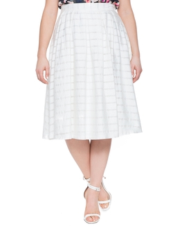 Eloquii - Studio Sheer Stripe Midi Skirt