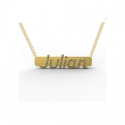 Personalized Boutique - 14K Gold & Diamond Name Bar Necklace