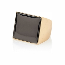 River Island - Gold Tone Square Signet Ring