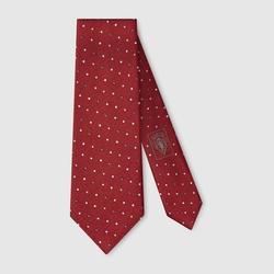 Gucci - Dot Print Silk Tie