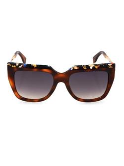 Fendi - Square-Framed Marble-Print Sunglasses