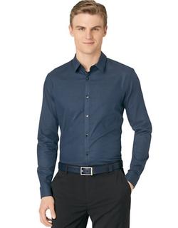 Calvin Klein  - Horizontal Stripe Dobby Shirt
