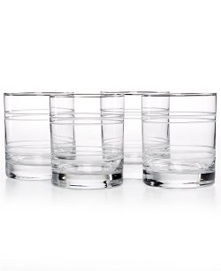 Martha Stewart Collection - Etched Double Old Fashioned Glasses
