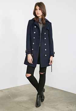 Forever 21 - Belted Trench Overcoat