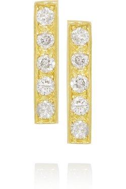 Jennifer Meyer  - 18-karat Gold Diamond Stud Earrings