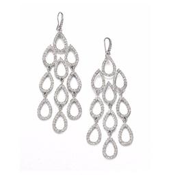 ABS By Allen Schwartz Jewelry - Pavé Chandelier Earrings