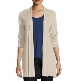 Eileen Fisher - Sleek Ribbed Long Cardigan