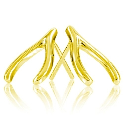 Enlightened Expressions  - Gold Plated Wishbone Earrings