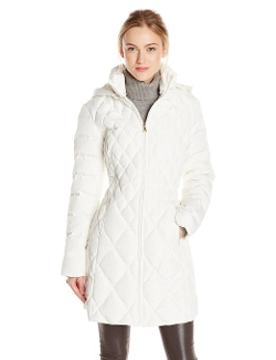 Jessica Simpson - Mid-Length Diamond Quilted Down Coat