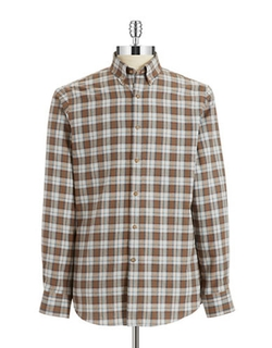 Black Brown 1826  - Brushed Twill Sportshirt