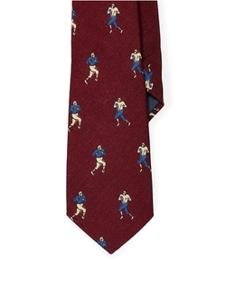 Ralph Lauren - Football Print Wool Tie