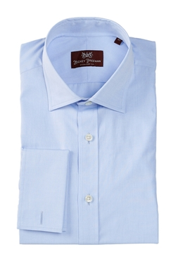 Hickey Freeman - Long Sleeve French Cuff Solid Dress Shirt