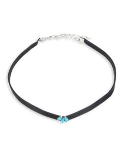 Jennifer Zeuner Jewelry  - Ivy Carolina Turqoise Choker Necklace
