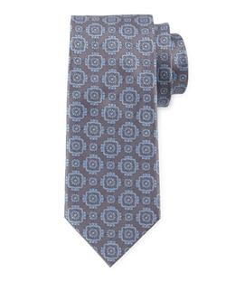 Brioni - Large Medallion-Print Woven Tie