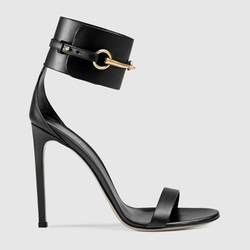 Gucci - Ankle-Strap Leather Sandal
