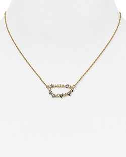 Alexis Bittar  - Spiked Swarovski Crystal Pendant Necklace