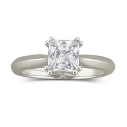 Diamonart - Zirconia Solitaire Ring