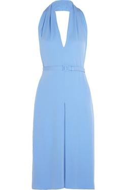 Gucci - Backless Silk Crepe Halterneck Dress