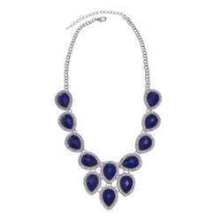 Mixit - Teardrop & Crystal Statement Necklace