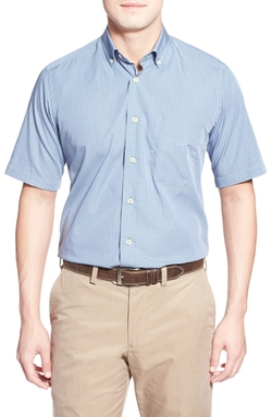 David Donahue - Short Sleeve Plaid Sport Shirt