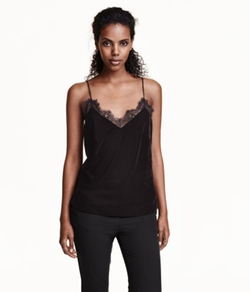 H&M - V-Neck Velvet Camisole Top