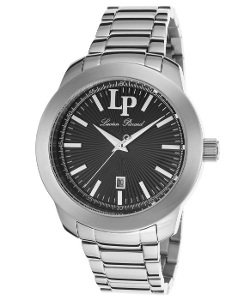 Lucien Piccard  - Belle Etoile Stainless Steel Black Dial Watch