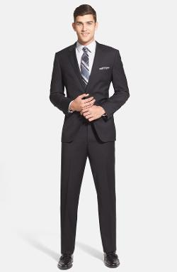 Hugo Boss - James/Sharp Trim Fit Black Wool Suit