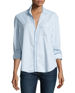 Frank & Eileen  - Eileen Button-Front Chambray Shirt