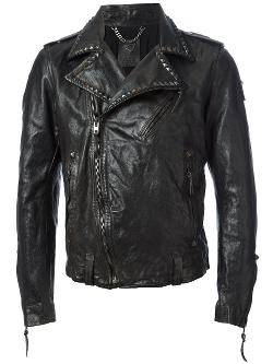 HTC Hollywood Trading Company - Leather Biker Jacket