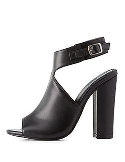 Charlotte Russe - Peep Toe Ankle Booties