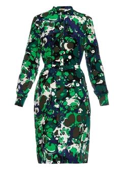Bottega Veneta - Marble-Print Silk Dress