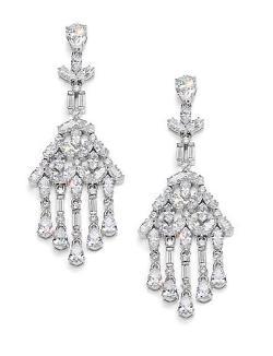 Adriana Orsini - Fringe Cluster Chandelier Earrings