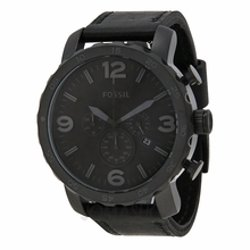 Fossil  - Nate Chronograph Black Ion-Plated Mens Watch