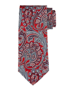 Ike Behar  - Large Scale Paisley-Print Silk Tie