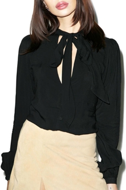 Motel Rocks - Ginnie Black Blouse