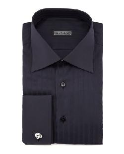 Stefano Ricci  - Textured Herringbone Dress Shirt